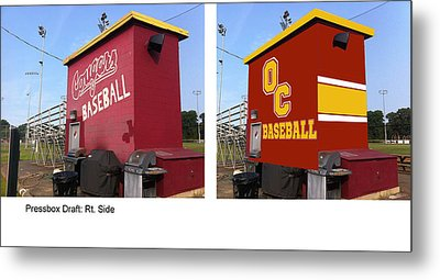 Pressbox Mural Painting Metal Print by Keith Naquin