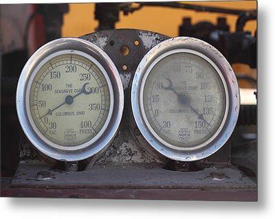 Pressure Gauge Metal Print by Troy Montemayor