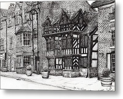 Prestbury Nat West Bank Metal Print by Vincent Alexander Booth