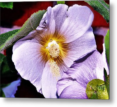 Pretty In Mauve Metal Print by Reb Frost