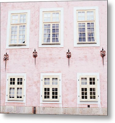 Metal Print featuring the mixed media Pretty In Pink- Art By Linda Woods by Linda Woods