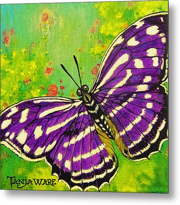 Pretty In Purple Metal Print