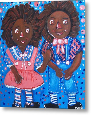 Pretty Peter And Penny Metal Print by Clara Spencer