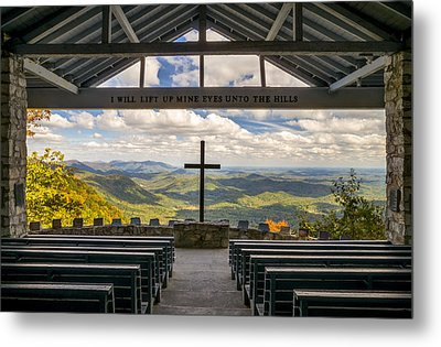 Pretty Place Chapel - Blue Ridge Mountains Sc Metal Print by Dave Allen