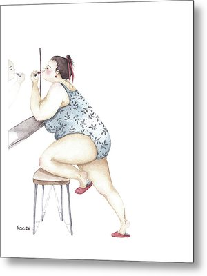 Pretty Woman Metal Print by Soosh