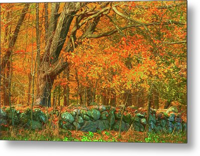 Preuss Road Stone Wall Metal Print by Trey Foerster