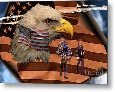 Metal Print featuring the photograph Price Of Freedom by Ken Frischkorn