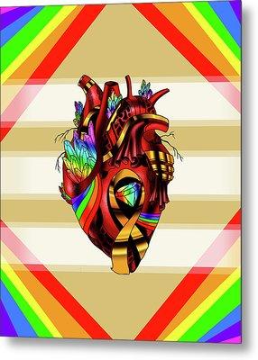 Pride Awareness Heart Metal Print