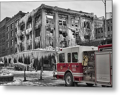 Pride, Commitment, And Service -after The Fire Metal Print