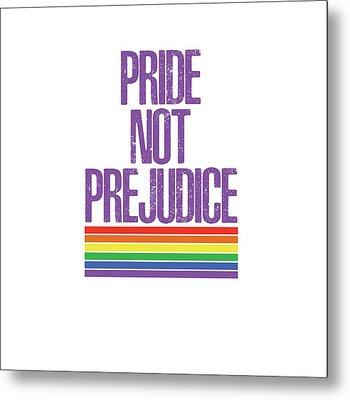 Metal Print featuring the drawing Pride Not Prejudice by Heidi Hermes