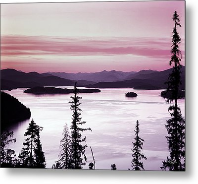 Priest Lake Metal Print by Leland D Howard