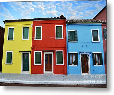 Primary Colors Too Burano Italy Metal Print