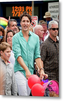 Metal Print featuring the photograph Prime Minister Justin Trudeau by Chris Dutton