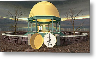 Prime Time Shrine Metal Print by Peter J Sucy
