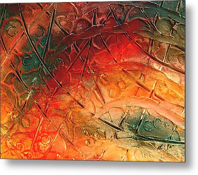 Primitive Abstract 1 By Rafi Talby Metal Print by Rafi Talby