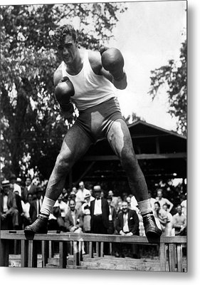 Primo Carnera At His Training Camp Metal Print by Everett