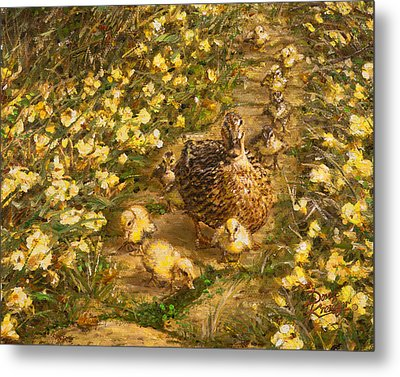 Metal Print featuring the painting Primrose Path Il by Doug Kreuger
