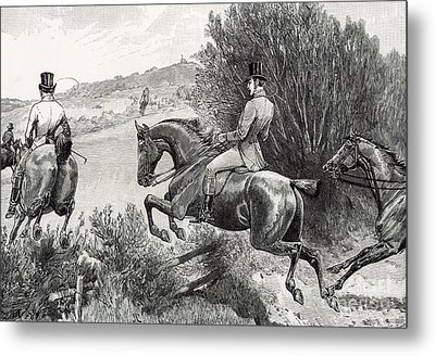 Prince Albert Hunting Near Belvoir Castle  Metal Print