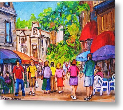 Metal Print featuring the painting Prince Arthur Street Montreal by Carole Spandau