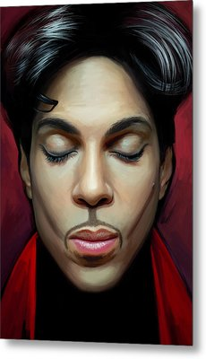 Metal Print featuring the painting Prince Artwork 2 by Sheraz A