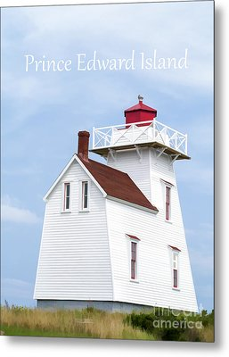 Prince Edward Island Lighthouse Poster Metal Print by Edward Fielding