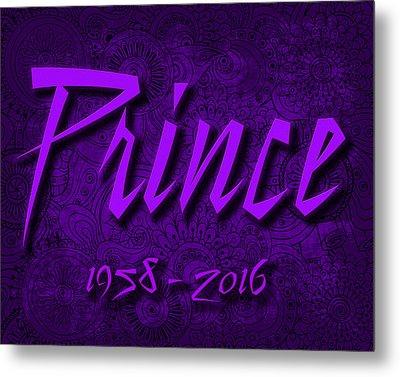 Prince Memorial Metal Print