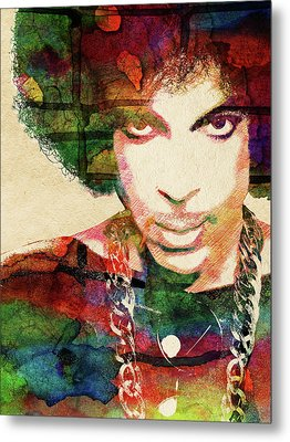 Prince Metal Print by Mihaela Pater