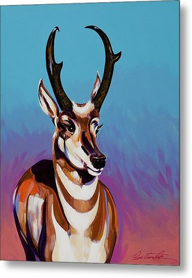 Metal Print featuring the painting Prince Of The Prairies by Bob Coonts