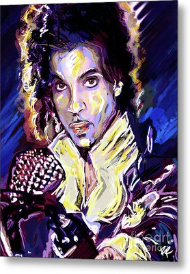 Prince Purple Rain Art Metal Print by Ryan Rock Artist