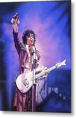 Prince The Legend Metal Print by Joshua Jacobs