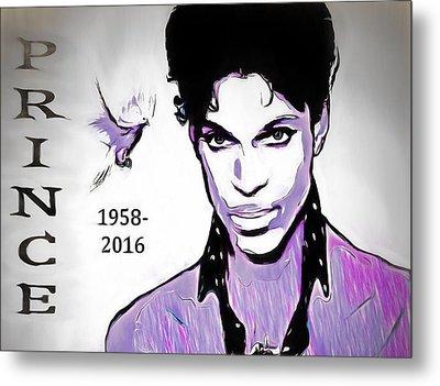 Prince Tribute Metal Print by Dan Sproul