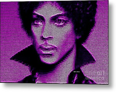 Prince - Tribute In Purple Metal Print