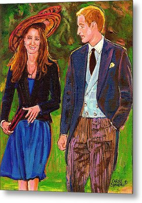 Prince William And Kate The Young Royals Metal Print by Carole Spandau