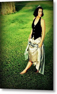 Princess Along The Grass Metal Print