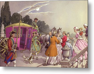 Princess Augusta, About To Give Birth, Was Bundled Into A Coach Metal Print