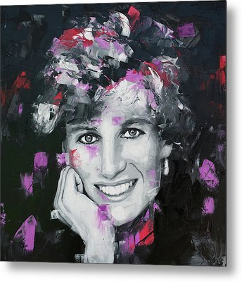 Metal Print featuring the painting Princess Diana by Richard Day