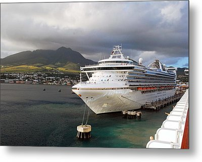 Princess Emerald Docked At Barbados Metal Print