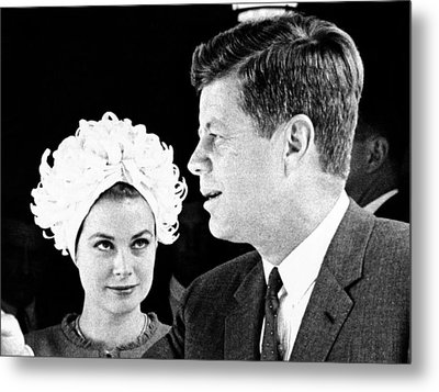 Princess Grace Of Monaco And President Metal Print by Everett