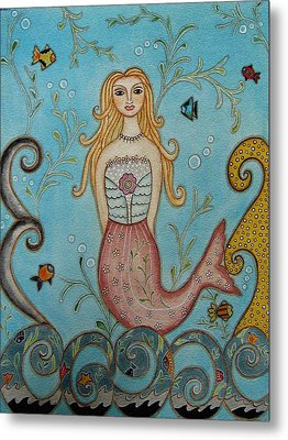 Princess Mermaid Metal Print by Rain Ririn