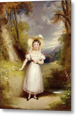 Princess Victoria Aged Nine Metal Print by Stephen Catterson the Elder Smith
