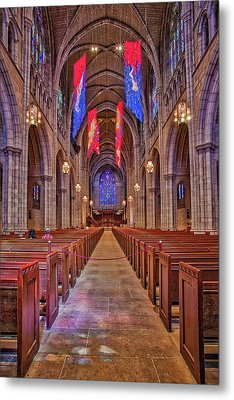 Metal Print featuring the photograph Princeton University Chapel by Susan Candelario