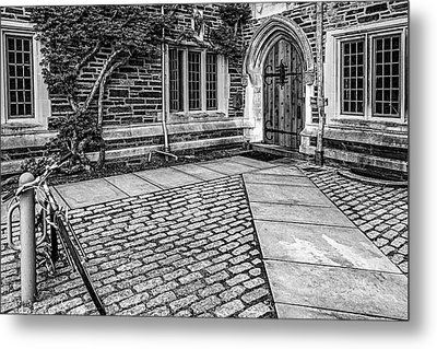 Metal Print featuring the photograph Princeton University Foulke Hall Bw by Susan Candelario