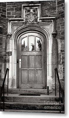 Princeton University Little Hall Entry Door Metal Print