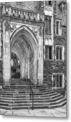 Metal Print featuring the photograph Princeton University Lockhart Hall Dorms Bw by Susan Candelario