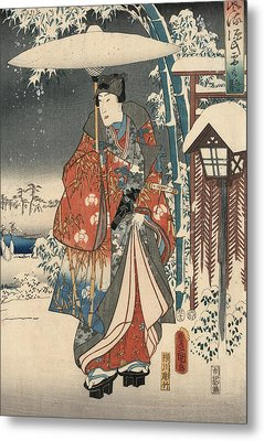 Print From The Tale Of Genji Metal Print by Kunisada and Hiroshige