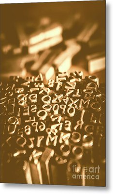 Print Industry Typographic Letters And Numbers Metal Print by Jorgo Photography - Wall Art Gallery
