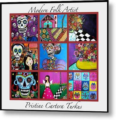 Prisarts Paintings Metal Print by Pristine Cartera Turkus