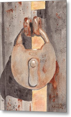 Prison Lock Metal Print by Ken Powers