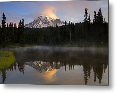 Pristine Reflections Metal Print by Mike  Dawson