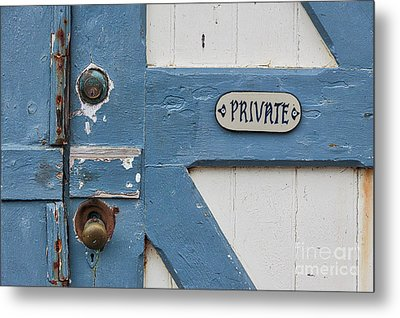Metal Print featuring the photograph Private by Ana V Ramirez